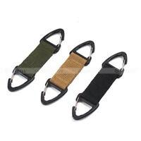 Nylon Tactical Belt Webbing Carabiner Key Holder Bag Hook Buckle Strap Clip