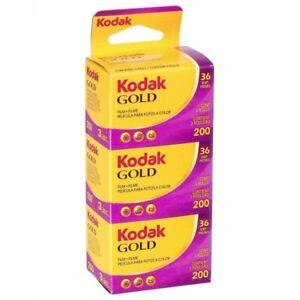 3 Rolls - KODAK Gold 200 ISO 36exp 135-36 35mm Color Negative Film