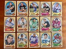 1970 Topps Lot (X15) Starr, Tarkenton, Barney (RC), Kilmer, Lilly, Kapp. HOF +++