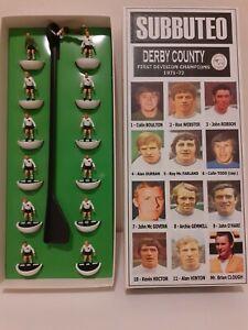 SUBBUTEO - DERBY COUNTY 1971-72 SQUADRA TOP SPIN DIPINTA A MANO + DECALS