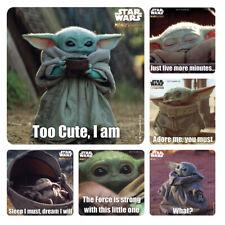 25 Mandalorian :The Child Baby Yoda Stickers Birthday Party Favors Star Wars