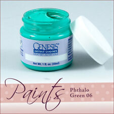 Genesis Paint Phthalo Green 06 1 fl oz For Reborn ~ Reborn Doll Supplies