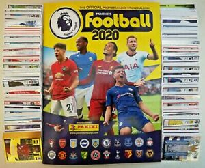 PANINI FOOTBALL 2020 PREMIER LEAGUE EMPTY ALBUM + FULL SET OF ALL 636 STICKERS