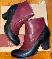 Gold Button 9026 Leather Boots  Women's Size EU 38 Rock Negro/tinto Lovely New