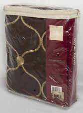 """Home Fashions International Enzo Rod Pocket Taffeta Panel - 52"""" x 108"""" Merlot"""