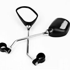 New Pair of Bike Mobility Scooter Handlebar Oval Mirrors With Safety Reflectors