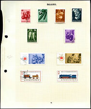BULGARIA pagina di album di francobolli #V4614