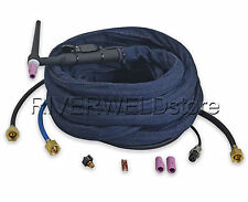 """WP-20F-25R 25"""" 200Amp Water-Cooled TIG Welding Torch Complete Flexible head body"""