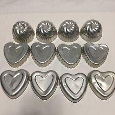 Vintage Aluminum Dessert Molds Tart Jello Pastry Baking Cake Heart