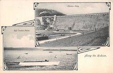 1906 Croton Dam & Boating off Croton Point Croton NY postcard Westchester County