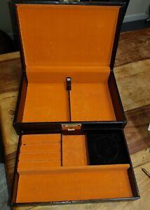 Vintage Design Philipp black jewellery box Velvet Lined, made in Sweden