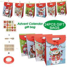 1-24 Advent Calendar Vintage Christmas Gift Bag Candy Decoration Chocolate