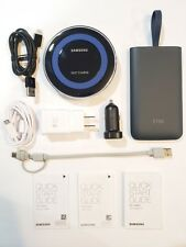 Samsung QI Power bundle Fast Wireless Charger Pad Car charger Power Pack Type C