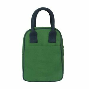 Reusable & Eco Friendly Insulated Army Green Color Lunch Bag For Office (10Ltr)