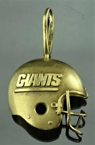 RARE SIGNED MICHAEL ANTHONY 1989 14K SOLID GOLD NY GIANTS HELMET PENDANT NO RSRV