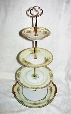 Custom Four Tier Tea Party Cake Stand Made With Vintage Plates