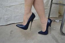 Womens 16cm Super High Heel Stilettos Nightclub Sexy Pointy Toe Shoes Pumps UK 7