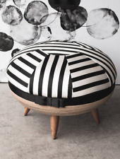 Made in France. Macaroon 3in1 Stool/Table/Storage by Christian Lacroix.Wood/Silk