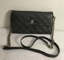Marc Jacobs Womens Dark Gray Quilted Chain Strap Crossbody HandBag