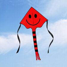 Kinder Drachen Smiley Kite Einleiner Flugdrachen drachenfliegen mit Schwanz B8P5