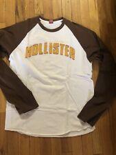Vintage 1999 Hollister Men's Red LOGO Long Sleeve Shirt sz Large Mens