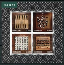 Sierra Leona 2013 estampillada sin montar o nunca montada Juegos De Ajedrez Backgammon ir mAh Jongg 4 V m/s Sellos De Deportes