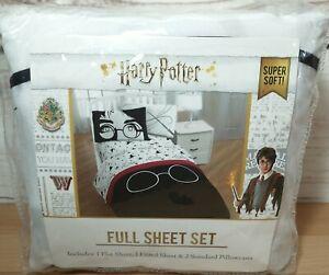 Harry Potter Full Sheet Set 1 Flat 1 Fitted 2 Pillowcases