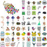 84 styles Creative Cartoon Brooch Cute Colorful Enamel Badge Backpack Decor Pins