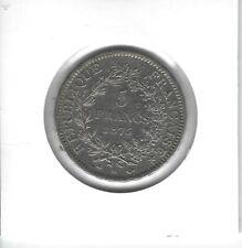 FRANCE 5 Francs Argent Hercule 1875 A
