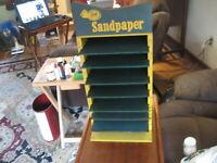Vintage Wooden 3M  Sandpaper Store Display