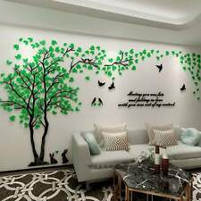 Large Family Rabbit Tree Wall Decals Acrylic Wall Stickers Mural Home Decor HOT