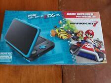 New 2DS XL Blue/Black (MOD) 128GB Micro SD 1000+ Games W Charger LumaCFW NIB