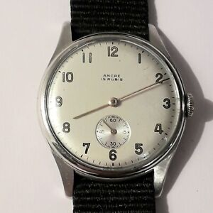 Vintage Swiss Ancre Watch. 1950's, Working