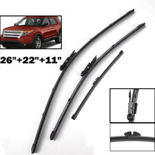 Front Rear Window Set Windshield Wiper Blades Fit For Ford Explorer 2011-2017