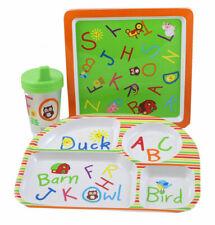 Bon Ton Plastic Childs Plates & Cup 4 pcs Adorable!