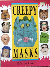 Creepy Masks (1993) - 12 Punch-Out Halloween Monster, Witch Masks, SCARCE Book