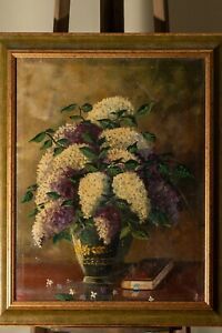 Laszlo PATAY 1962 Signed Old Oil Painting Canvas Organ Munkacsy Award Winner