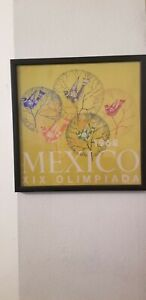mexico 1968 olympics poster NOT a REPRODUCTION Custom Acid free framing