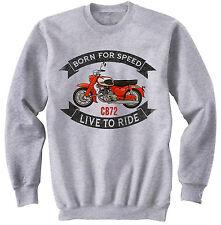 Honda CB 72-Nueva Sudadera gris algodón todos los tamaños en stock