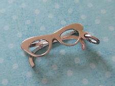 Vintage BEAU Sterling Silver CAT EYE GLASSES Charm for Charm Bracelet MOVES