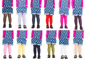 Girls Tights Plain Opaque By Sentelegri 40 Or 60 Denier, Age 2-12Years-16Colours