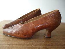 Vintage/ANTIQUE 1920 S Peau De Serpent Chaussures neuf jamais porté RANDALL'S TAILLE 4?