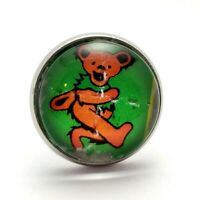 Dancing Bear Lapel Pin LSD Blotter Art Grateful Dead Psychedelic Color Options