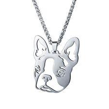 BIG Stainless Steel Boston Terrier Boxwood American Gentleman Dog Charm Pendant