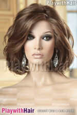 STUNNING Tousled Wavy Lace Front Wig Mono Top Waved Waves Brown Blonde Mix