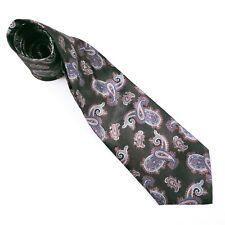 """David Taylor Men Tie Paisley 100% Polyester 57 1/2"""" x 3 3/4"""" Black MultiColor"""