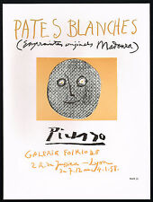 1960s Vintage Pablo Picasso Pates Blanches Galerie Folklore Poster Art Print