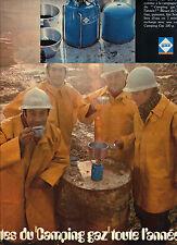 PUBLICITE  1970   CAMPING GAZ    faites du camping toute l'année