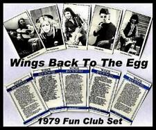 Two Sets Beatles Paul McCartney Wings BACK TO THE EGG  5 Card Set