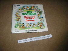 "7"" Pop The Wombles Remember You're A Womble CBS Mike Batt"